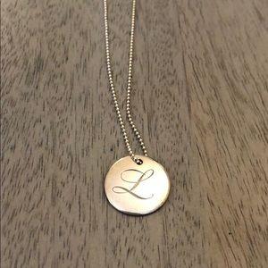 Tiffany & Co. L necklace